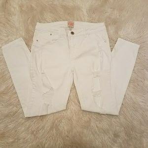 Gianni Bini White Denim Jeans Sz7